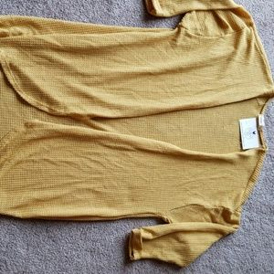 Ginger G chamber knit cardigan in Mustard size L